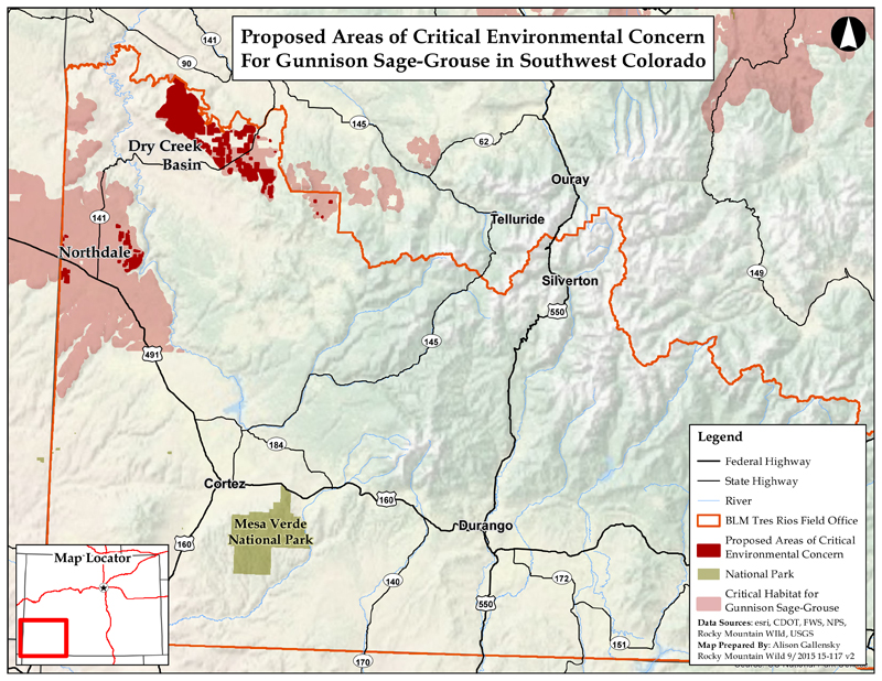 Gunny Sage-grouse Proposed ACECs