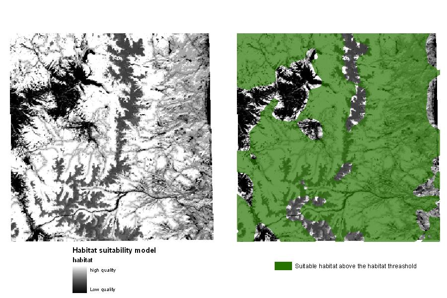 Figure 2: Example of a Habitat Suitability Model