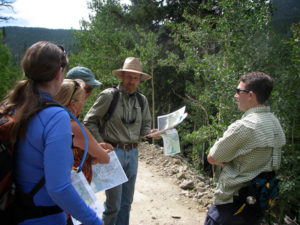 Dave Hallock and Rocky Smith give a tour to Rocky Mountain Wild Staff at the proposed Eldora Mountain Resort expansion.