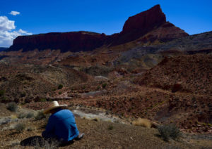 Rob Gay surveying in Bears Ears National Monument