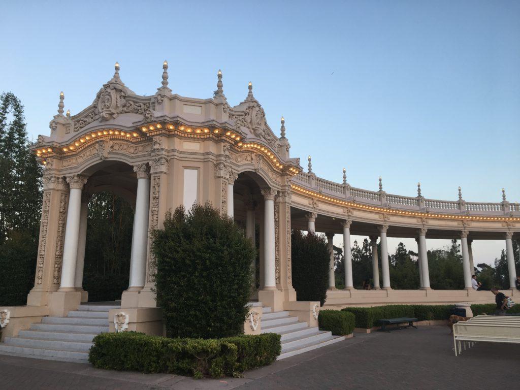 detail of pavillion