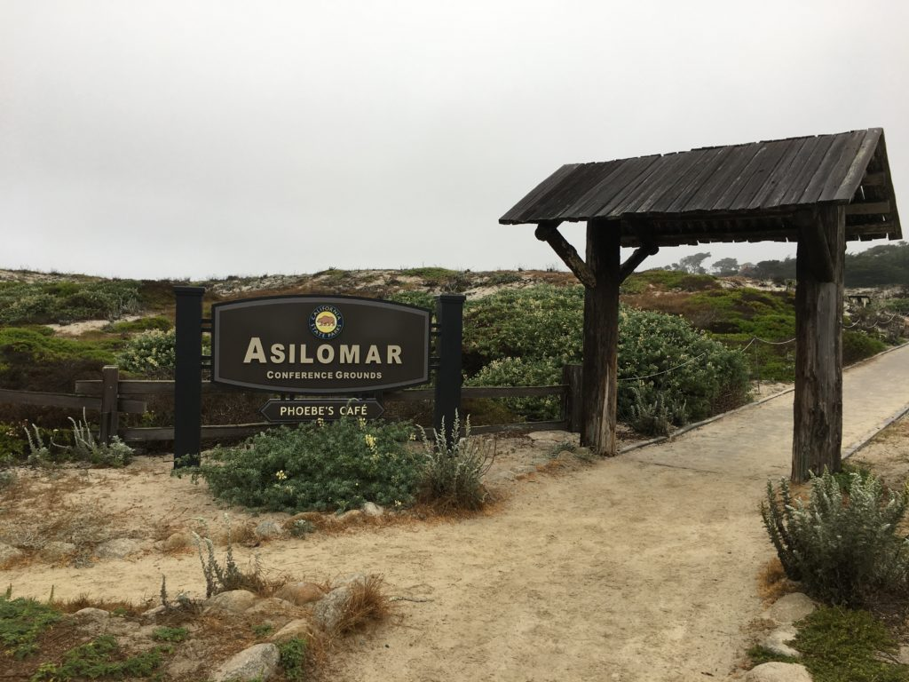 Sign for Asilomar Conference Grounds