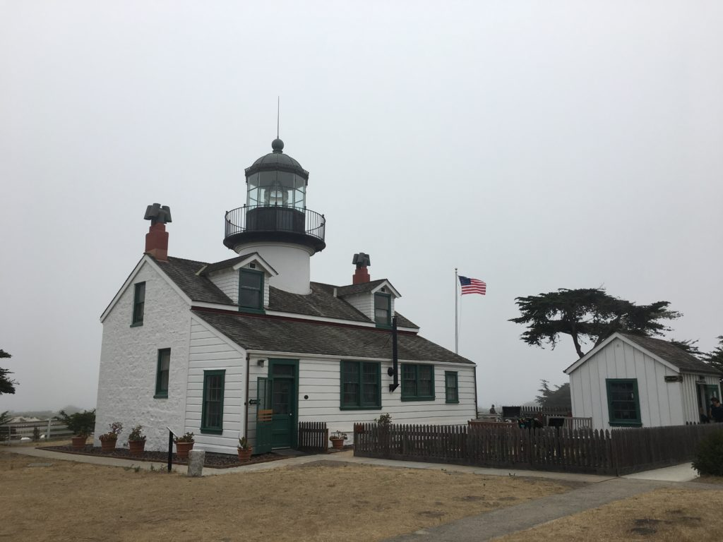 Lighthouse Building and Flag