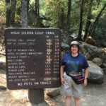 Alison with Trail Sign