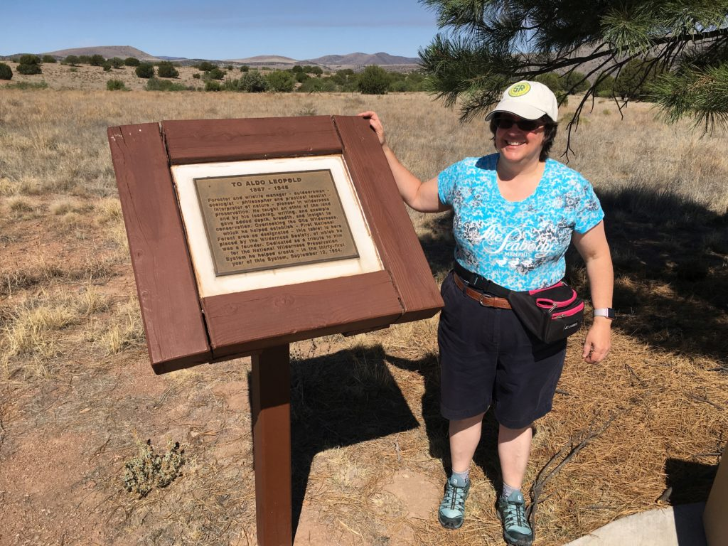 "Alison by historic marker ""To Aldo Leopold 197 - 1948"""