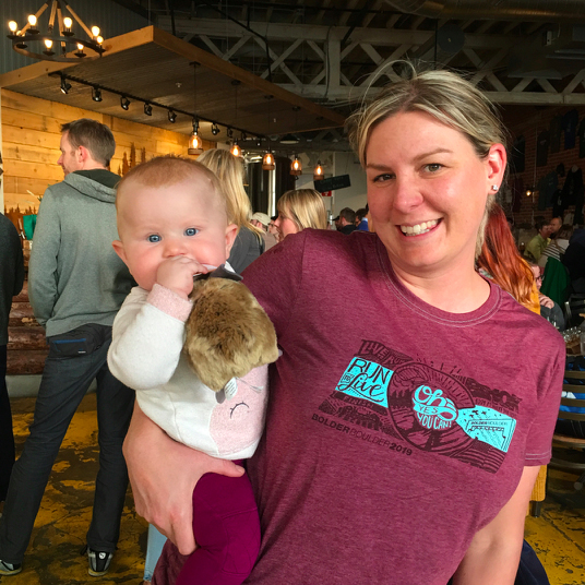 New pika parents at Pints for Pikas during #CESW2019