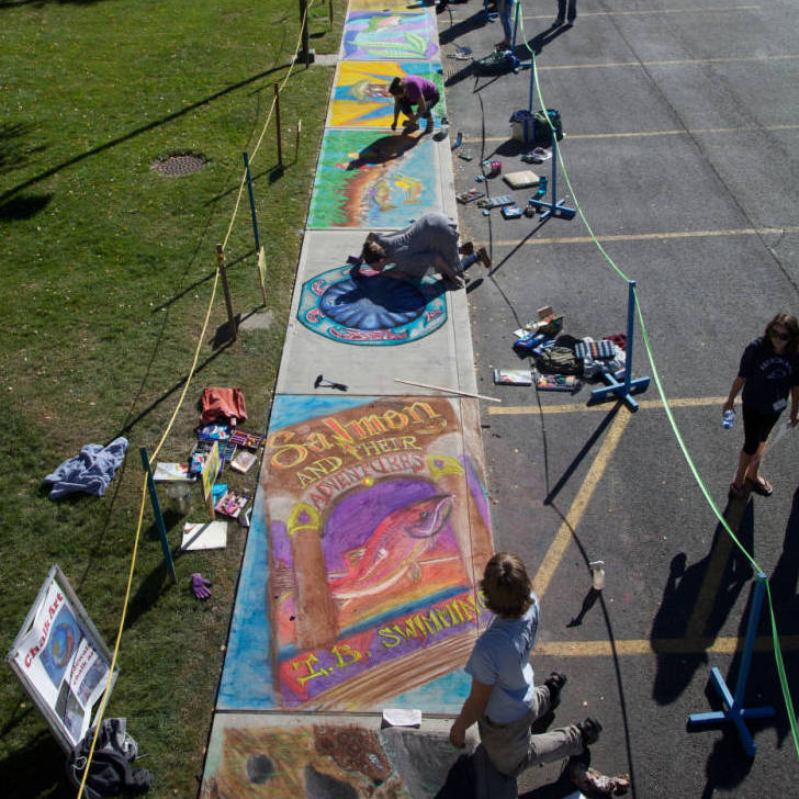 Endangered Species Chalk Art Event, photo courtesy of US Fish and Wildlife Service