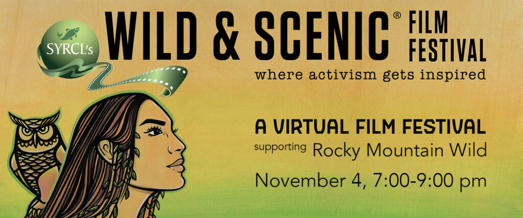 Wild & Scenic Film Festival banner with this year's artwork
