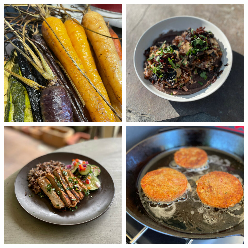 Collage of dishes prepared by Wulf Down Co
