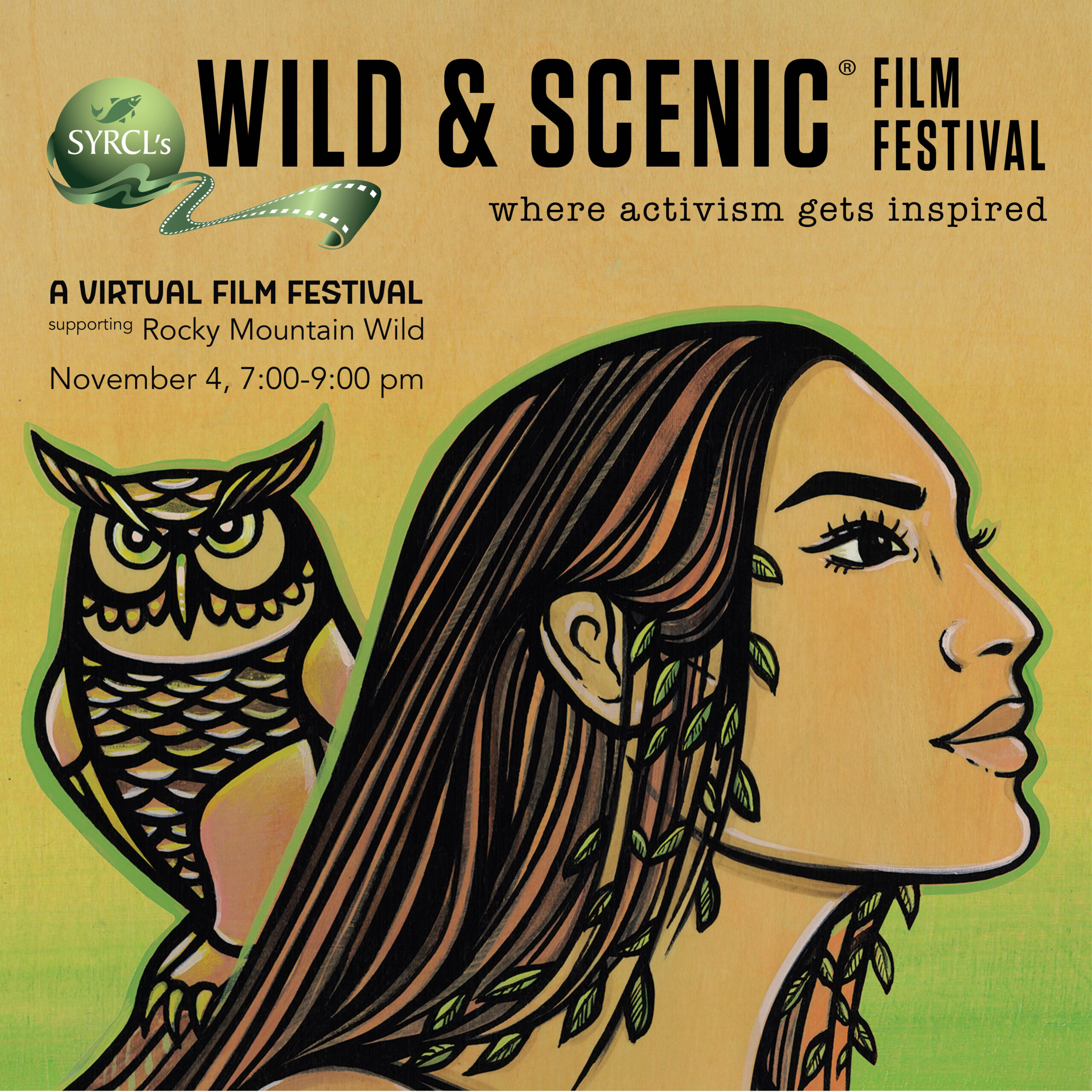 Instagram-sized image for Wild & Scenic Film Festival with dates